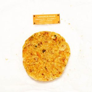 Hamburguesa de arroz yamani con zanahoria y jengibre